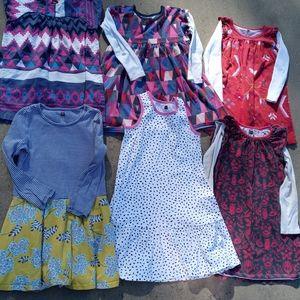 Tea bundle of six girls dresses all fit a 6 year